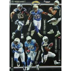 San Diego Chargers Team Fathead Wall Decal Set