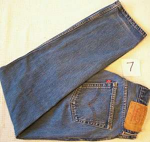 Authentic LEVI 501 Button Front blue Denim Jeans 32x32 Levis Red Tab