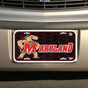 Maryland Terrapins Black Plastic License Plate Automotive