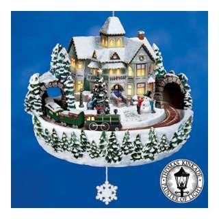 The Bradford Editions Thomas Kinkade Victorian Christmas Crossing