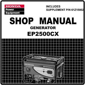 Honda Generator Service Repair Manual