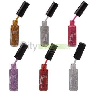 12 Color Nail Art Striping Brush Polish Varnish Glitter Polish