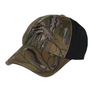 Denver Broncos NFL Team Apparel Black & Camo Fitted Hat (L