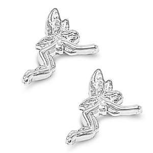 Nickel Free Sterling Silver Earrings Fairy Stud Earring