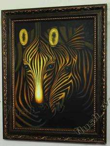 Hand Painted Animal Oil Paintings Canvas Art African Zebra P640