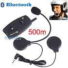 2x Motorcycle Helmet Bluetooth Headset Intercom 1000M