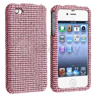 Pink Rhinestone Bling Hard Case Cover For iPhone 4 4S 4G 4GS 4G