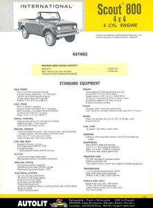 1968 International Scout 800 4x4 4 Cyl Truck Brochure