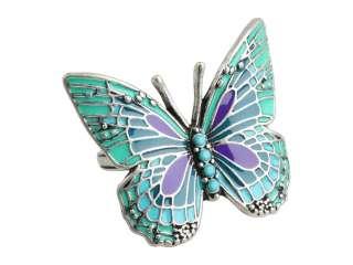 Lucky Brand Vintage Jewelry Green Enamel Butterfly Ring Womens Size 7