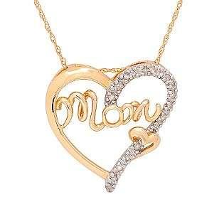 Pendant. 10K Yellow Gold  Jewelry Diamonds Pendants & Necklaces