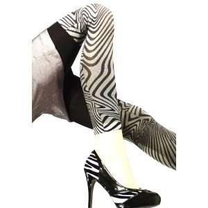 Lace Poet Black/Gray Zebra Animal Print Leggings