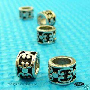 3x Sterling Silver 925 Large Hole European Beads B159
