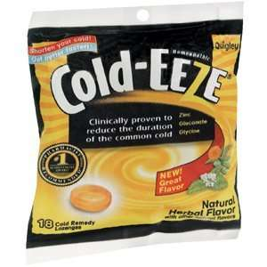 Quantity of 3 x COLD EEZE LOZ HERBAL 18TB    10136323
