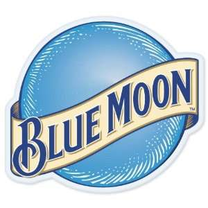 Blue Moon Beer logo vinyl sign sticker decal 5 x 4