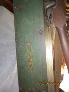 ANTIQUE CAST IRON AND PAINTED WOOD PUMP. THIS WAS USED IN A CISTERN