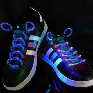 BLUE LED Lighted Shoe Laces  Sells and ships from USA 022099175292