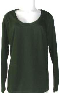 NEW Liz Claiborne New York T Shirt w/ Chiffon Trim