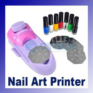 Set Nail Art DIY Printing Machine Manicure Stamp Polish