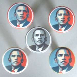 5 Button Set BARACK OBAMA Art Button/Pin/Pinback