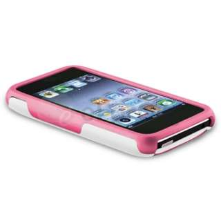 Piece Rubber Hard Case Skin Cover For iPhone 3G 3GS WHITE/PINK