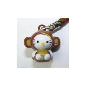 Hello Kitty in Monkey Costume Bell Straps, Charms or