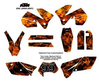KTM EXC 2005  07 Bike Graphic Decal Sticker Kit 9001N