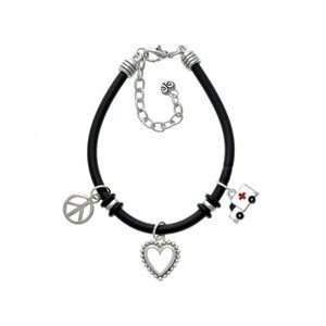 Ambulance with Cross Black Peace Love Charm Bracelet Arts