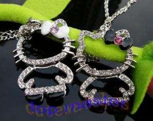 2pcs hello kitty folded crystal necklace pendant K1