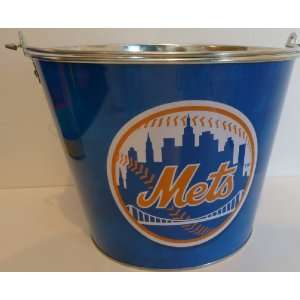 NY Mets Metal Ice Bucket with New York Mets Logo  Kitchen