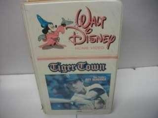 Walt Disney white claim VHS TIGER TOWN Baseball