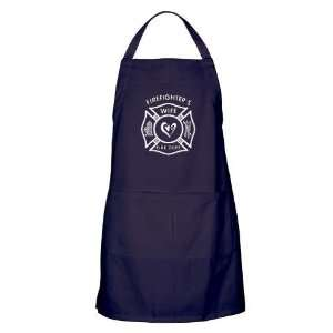 Firefighters Wife Funny Apron dark by CafePress: Home