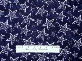 Stars Space Patriotic Navy Blue Timeless Treasures Novelty #JT C6398