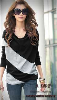 Batwing Dolman Long Sleeve Cotton Casual Tops T Shirt Blouses
