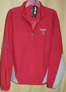 PING Tour Logo 1/4 Zip Long/Short Zip Off Sleeve Windshirt Med(Dark