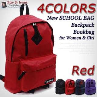 New SCHOOL Bag Red Backpack Bookbag for Women & Girl