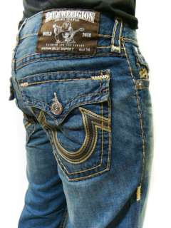 TRUE RELIGION Mens Jeans BILLY Super T Chain Stitch Big Embroidery
