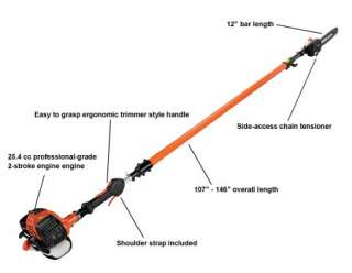 ECHO PPT 266H POWER PRUNER TELESCOPING POLE SAW CHAINSAW *MINT STORE
