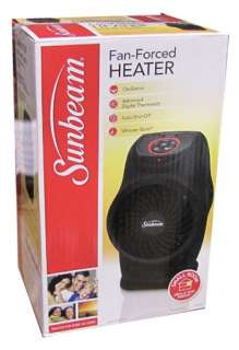LCD Electric Fan Forced Portable Heater Oscillation Black