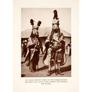 1937 Print Guatemala Chichicastenango Dance Conquistadors Costume Mask