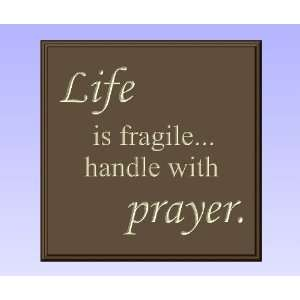 Decorative Wood Sign Plaque Wall Decor with Quote Life is