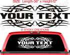 102 Custom Rear Window Sticker Decal Tribal Graphic