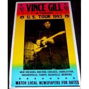 Vince Gill 1993 Tour Concert Poster Replica (Music