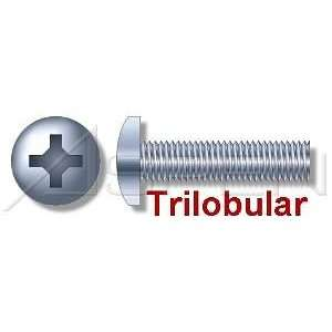 000pcs per box) Trilobular Thread Rolling Screws Pan Head Zinc #10