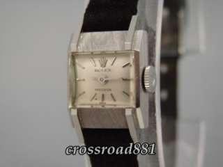 Womens 18K White Gold Rolex Precision Wrist Watch Great Condition