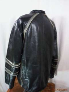 Cafe Racer Motorcycle Biker Jacket.Patches. Mens XXL.USA.