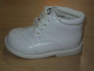 Baby Boy White Leather Christening Baptism shoes/ Size 4
