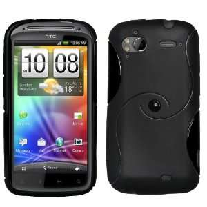 Stylish Black S Line Wave Silicone Gel Case Cover For The