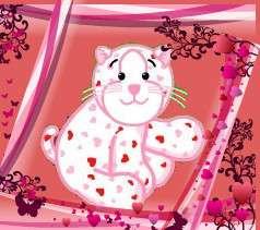Webkinz Love Kitten seasonal release Valentine balloon ~No plush