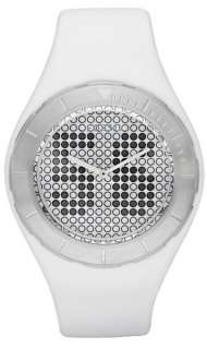 FOSSIL Digital Analog Watch Black White Set Straps JR1210 Mens