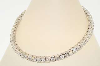 01CT ROUND CUT DIAMOND HALF BEZEL TENNIS BRACELET SPARKLING